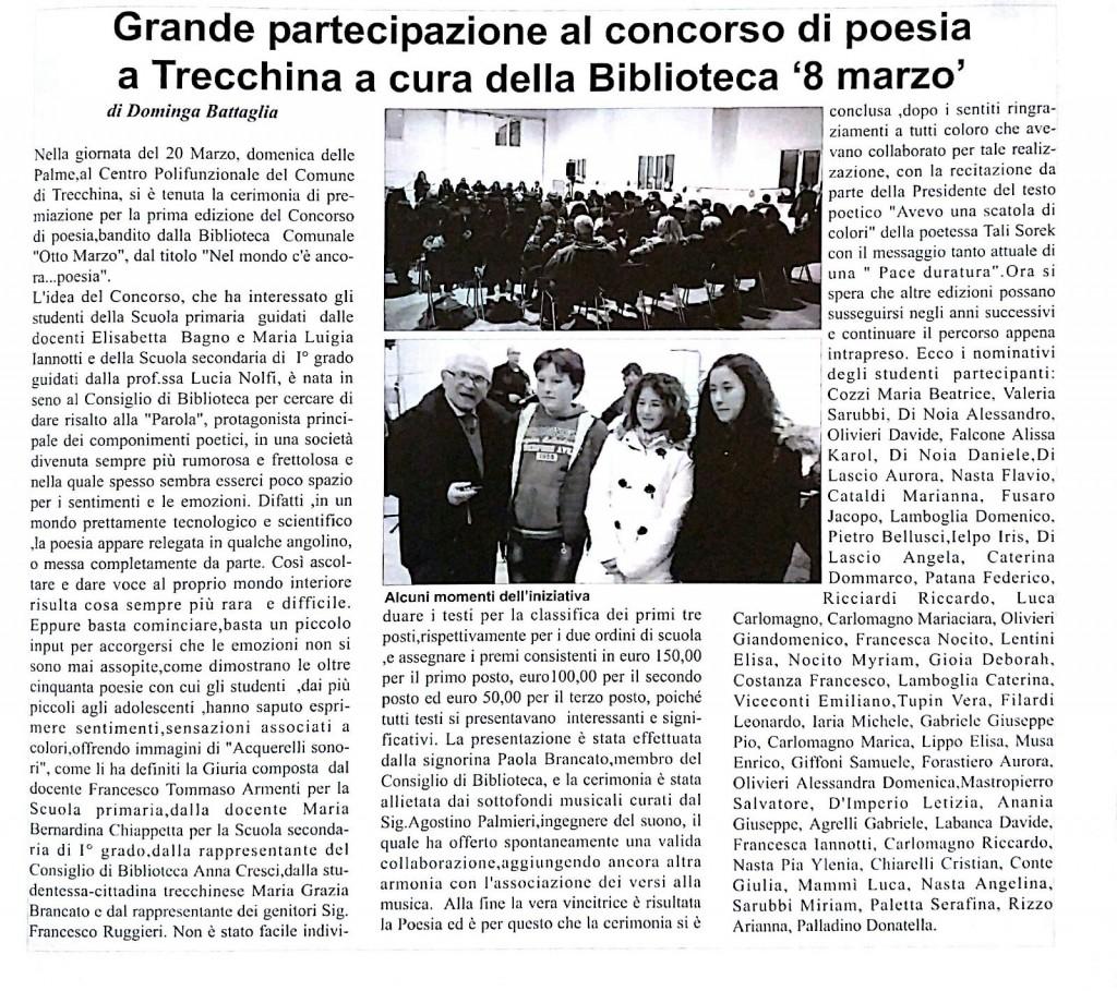 """Da: """"L'eco di Basilicata"""" del 1 Aprile 2016"""